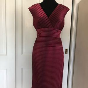 Adrianna Papell shimmery burgundy dress cocktail 4